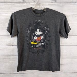 DISNEY Men Mickey Mouse All American Classic Shirt